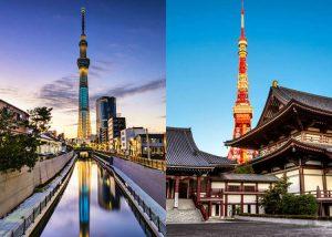 Menara Tokyo dan SkyTree